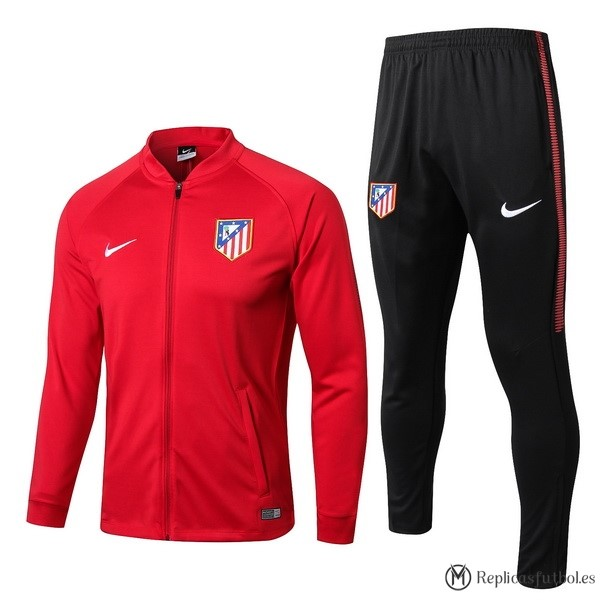Chandal Atletico Madrid 2017/2018 Rojo Negro Replicas Futbol